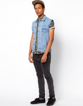 Image 4 ofBellfield Sleeveless Denim Jacket