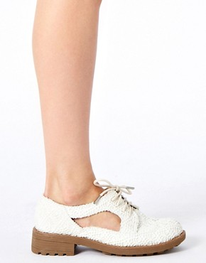 Image 3 ofRiver Island Cut Out Crochet Shoes