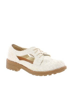 Image 1 ofRiver Island Cut Out Crochet Shoes