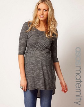 Image 1 ofASOS Maternity Exclusive Top With Dipped Hem