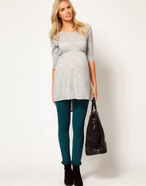 Image 4 ofASOS Maternity Exclusive Top With Dipped Hem