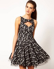 River Island Lace Print Prom Dress