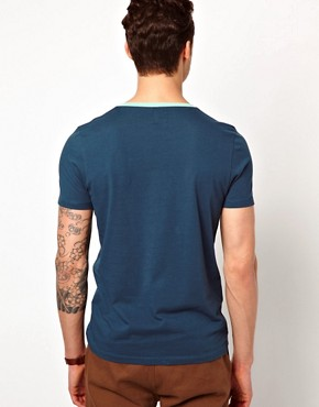 Image 2 ofASOS T-Shirt With Contrast Pocket And Neck Trim
