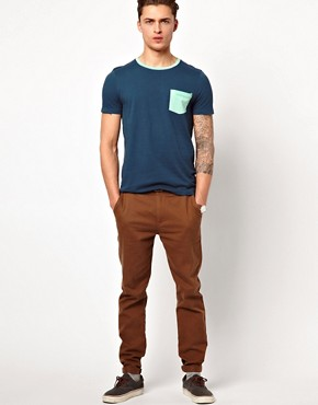 Image 4 ofASOS T-Shirt With Contrast Pocket And Neck Trim