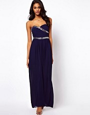 TFNC Maxi Dress with Embellished Bandeau