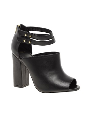 Image 1 ofASOS TUTU Leather Peep Toe Shoe Boots