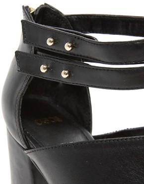 Image 3 ofASOS TUTU Leather Peep Toe Shoe Boots