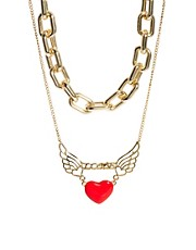 ASOS Multipack Heart Necklaces