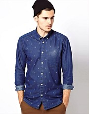 Jack &amp; Jones Denim Shirt With Boat Print