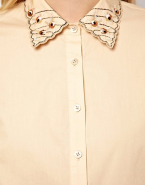 Image 3 ofNW3 Poppy Blouse with Embroidered Collar