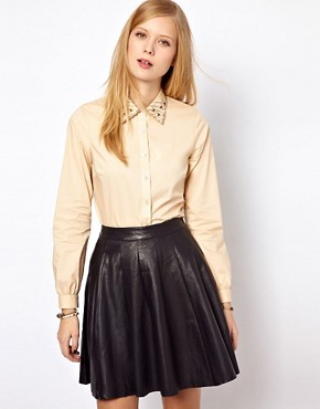 Image 1 ofNW3 Poppy Blouse with Embroidered Collar