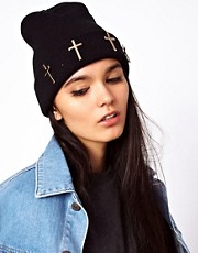 ASOS Metal Cross Beanie