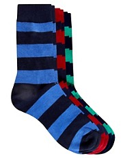 Selected 3 Pack Socks Maxx Striped