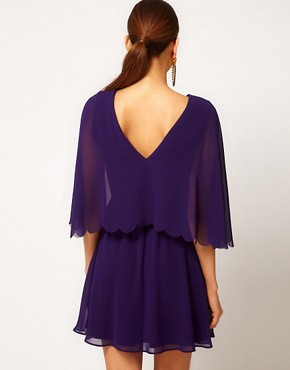 Image 2 ofASOS Chiffon Dress With Scalloped Edge