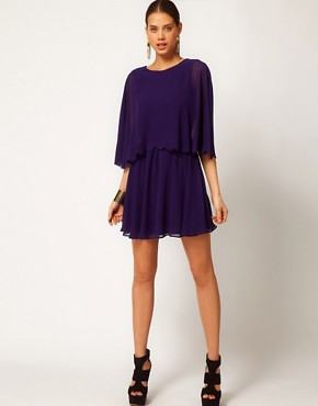 Image 4 ofASOS Chiffon Dress With Scalloped Edge