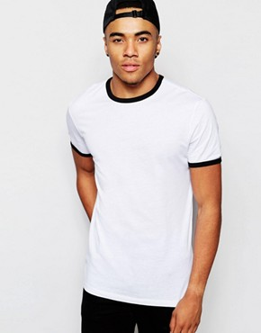 New Look Crew Neck T-Shirt with Contrast Trim