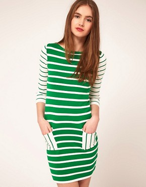 Image 1 ofASOS Striped Knitted Dress