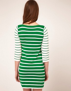 Image 2 ofASOS Striped Knitted Dress