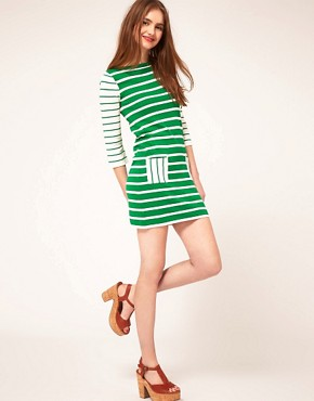 Image 4 ofASOS Striped Knitted Dress