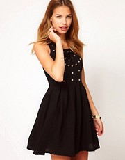 Club L Skater Dress With Studs
