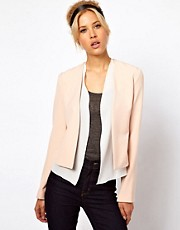 ASOS Jacket with Soft Waterfall Trim