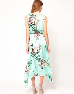 Image 2 ofFull Circle Floral Maxi Dip Hem Dress
