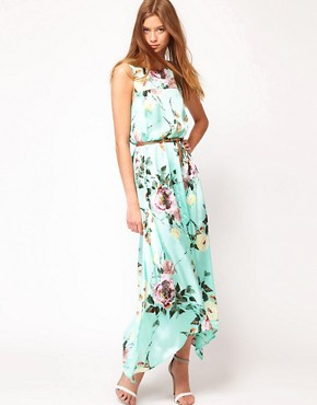 Image 4 ofFull Circle Floral Maxi Dip Hem Dress