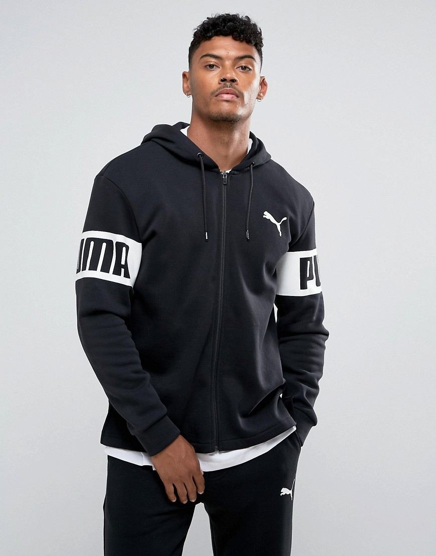 Puma Rebel Full-Zip Pullover In Black 59245501 - Black