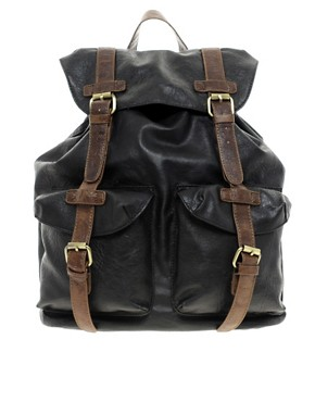 Image 1 ofASOS Military Backpack In PU