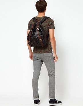 Image 3 ofASOS Military Backpack In PU