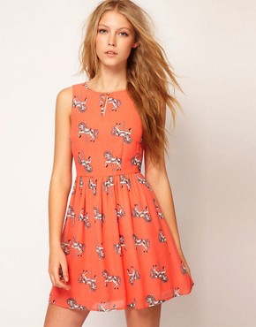 Image 1 ofSugarhill Boutique Chiffon Merry Go Skater Dress