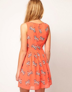 Image 2 ofSugarhill Boutique Chiffon Merry Go Skater Dress