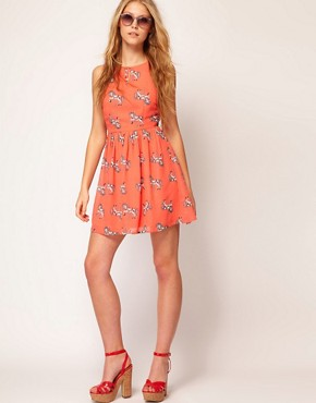 Image 4 ofSugarhill Boutique Chiffon Merry Go Skater Dress
