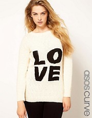 ASOS CURVE Jumper With Love