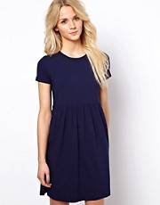ASOS Smock Dress With Short Sleeves