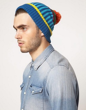 Image 2 ofASOS Contrast Stripe Beanie