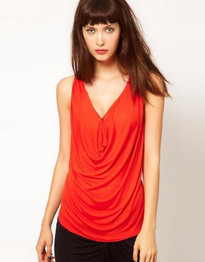 Image 1 ofDagmar Silk Mix Jersey Top with Cowl Neck
