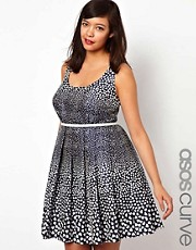 ASOS CURVE Heart Print Dress