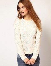 A Wear Heart Stitch Jumper