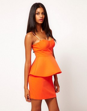 Image 1 ofAqua April Structure Peplum Mini Dress