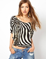 Denim &amp; Supply By Ralph Lauren Drapey Zebra T-Shirt