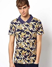 Native Youth Polo Shirt With Hawaiian Print