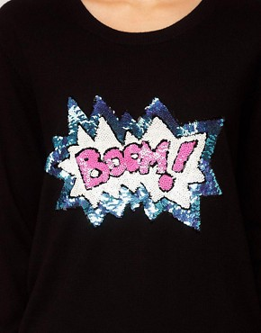 Image 3 ofMarkus Lupfer &#39;Boom&#39; Sequinned Jumper