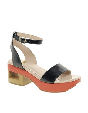 Image 1 ofDV8 Lilly Contrast Sole Heeled Sandals