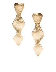 Kenneth Jay Lane Stack Triangle Earrings