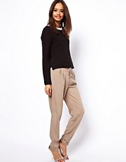 ASOS Peg Trousers with Waist Detail