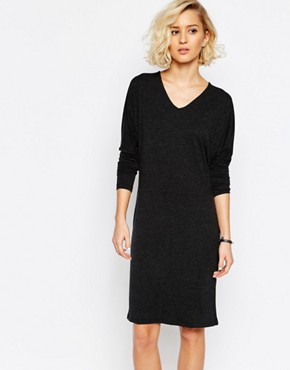 Just Female Long Sleeved Jersey Dress