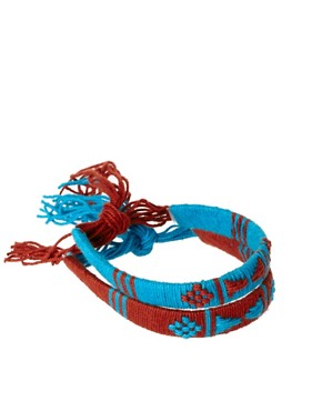 Image 1 ofASOS Aztec Bracelet Pack