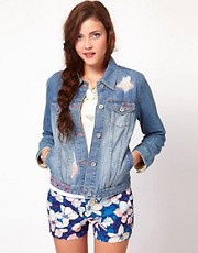 Roxy Denim Jacket with Embroidery