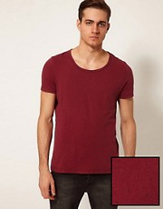 ASOS T-Shirt With Scoop Neck And Neppy Fabric